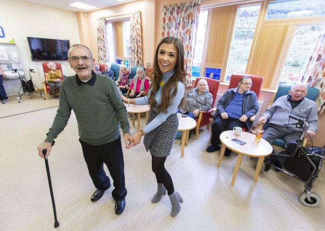 Since Marie Curie looked after her gran, Amber Zoe of Radio Clyde has been a regular visitor to its hospice in Glasgow. Picture: Martin Shields