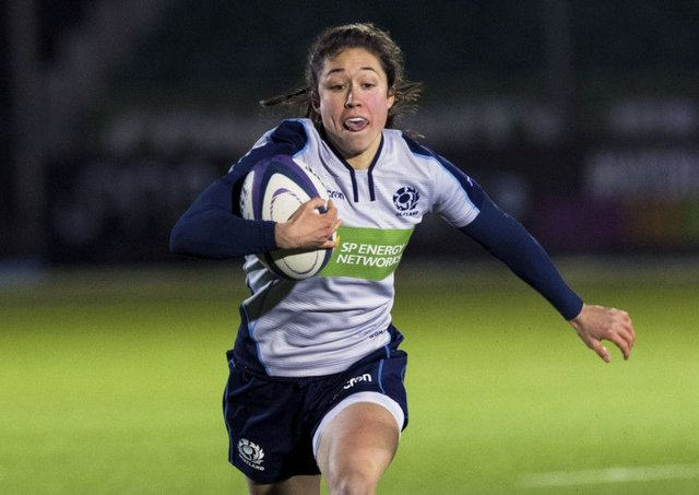 Scotland winger  Rhona Lloyd. Picture: Paul Devlin/SNS