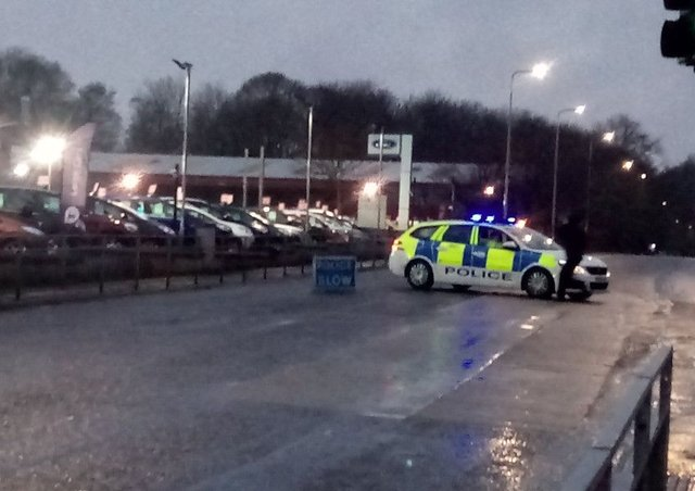 Police have closed off Oriel Road.  Picture: Debbie Clarke