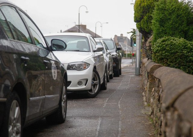 A ban on pavement parking has been approved in parliament. Picture: Scott Louden