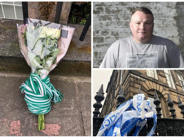 Tributes are being left at the scene of the shooting on Chester Street