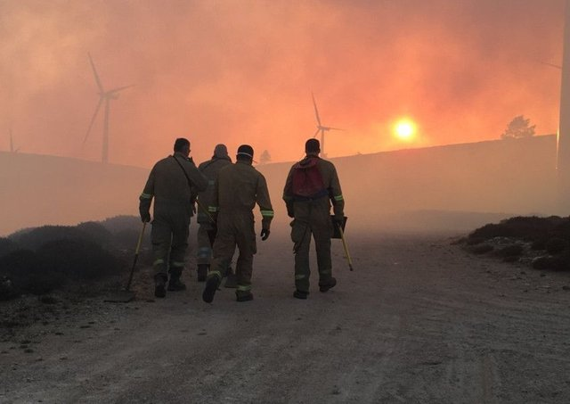 An estimated 50 square kilometres of gorse, grass and forestry has been affected. Picture: Scottish Fire and Rescue Service/PA Wire