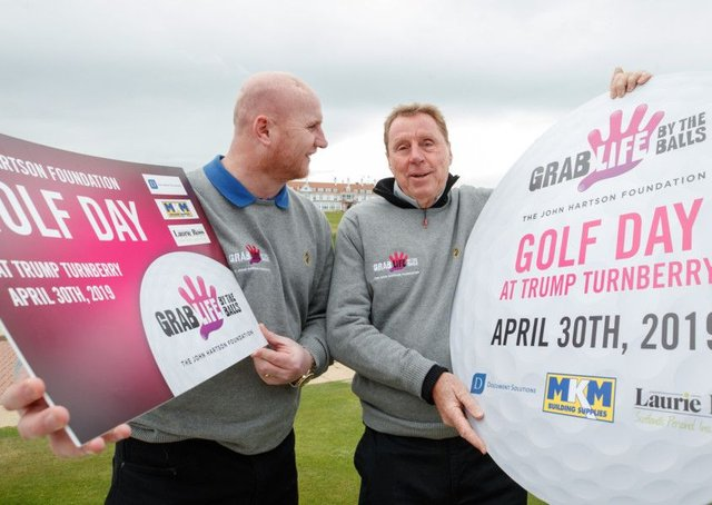 Harry Redknapp with John Hartson at The John Hartson Foundation golf event at  Turnberry