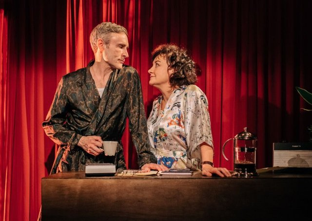 Cal Macanich and Lorraine McIntosh are an engaging He and She in The Mistress Contract. Picture: Mihaela Bodlovic