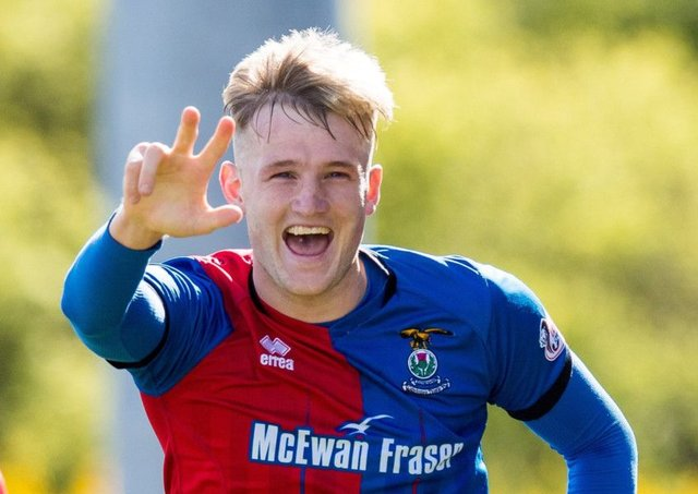Coll Donaldson celebrates his equaliser against Ayr United on Saturday. Picture: SNS.