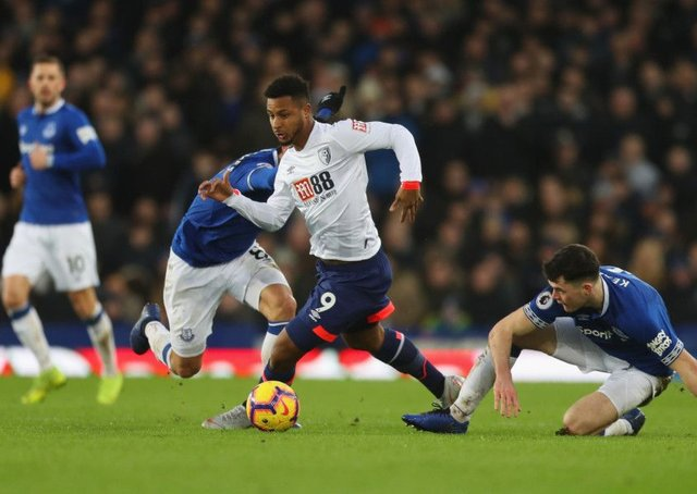Lys Mousset in action for Bournemouth against Everton in the English Premier League. The forward has been linked with Celtic. Picture: Getty Images