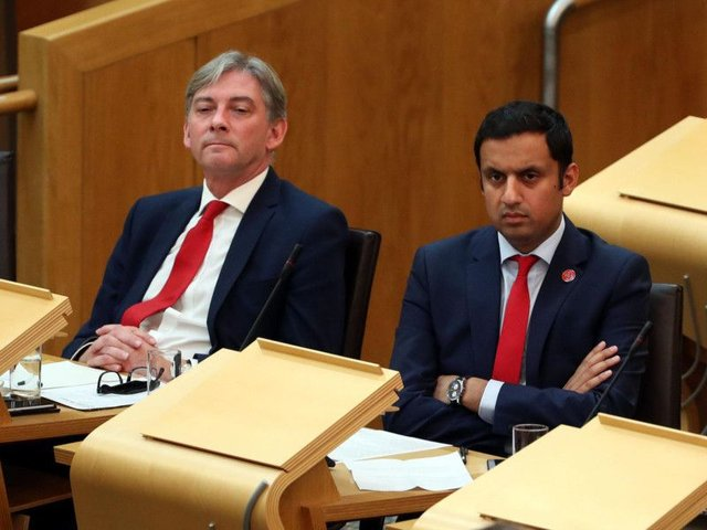 Anas Sarwar (right) with Scottish Labour leader Richard Leonard. Picture: PA