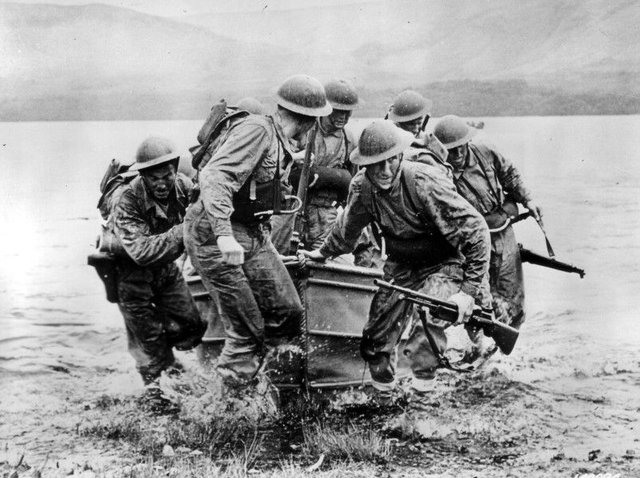 Scotland led the way with Commando training ahead of D-Day with the six-week course at Achnacarry Castle near Fort William harsh and effective. PIC:  US National Archives and Record Administration.     The Achnacarry Commando training at Achnacarry Commando  course was rigorous and effective.