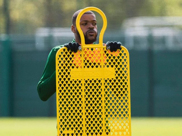 Olivier Ntcham awaits his Celtic exit. Picture: SNS