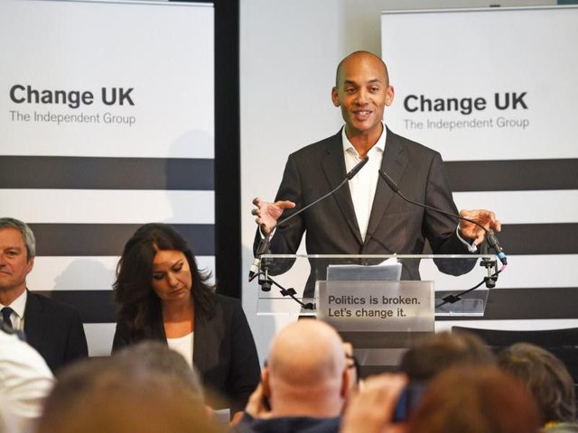 Chuka Umunna at a Change UK event