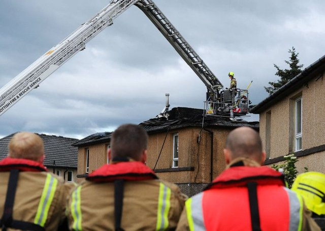 A fire was started in Mansionhouse Road, Camelon last month. Picture: Michael Gillen