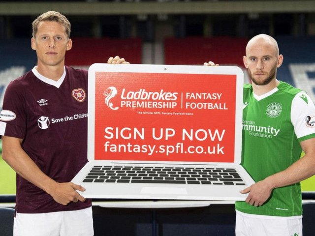 Hearts captain Christophe Berra and Hibs skipper David Gray help spread the word about the new game