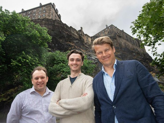 MarktoMarket co-founders (from left) Martin Clarke, Bertie Wilson and Douglas Lawson. Picture: Rick Booth