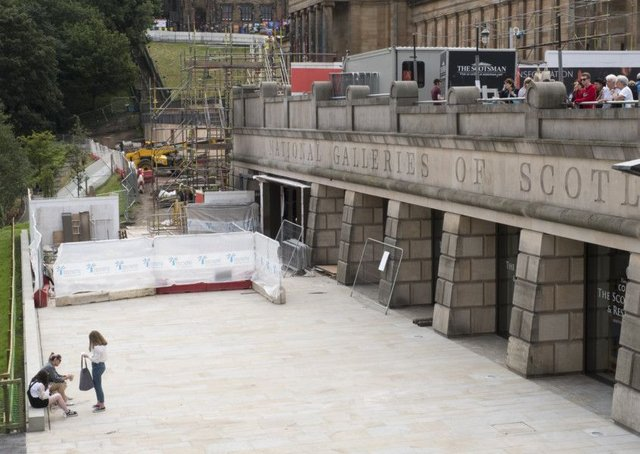 Work on the National Galleries site is £6 million over budget. Picture: Ian Rutherford
