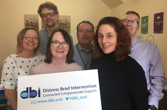 The Scottish Government-funded Distress Brief Intervention (DBI) programme, Aberdeen