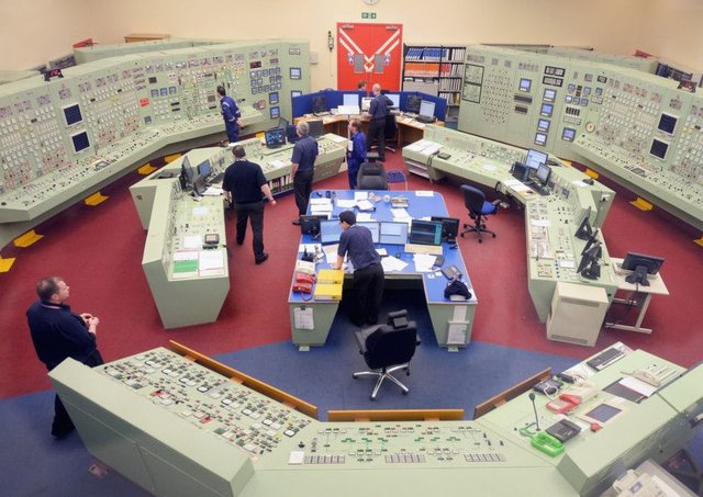 Hunterston B control room.  (Photo by Jeff J Mitchell/Getty Images)