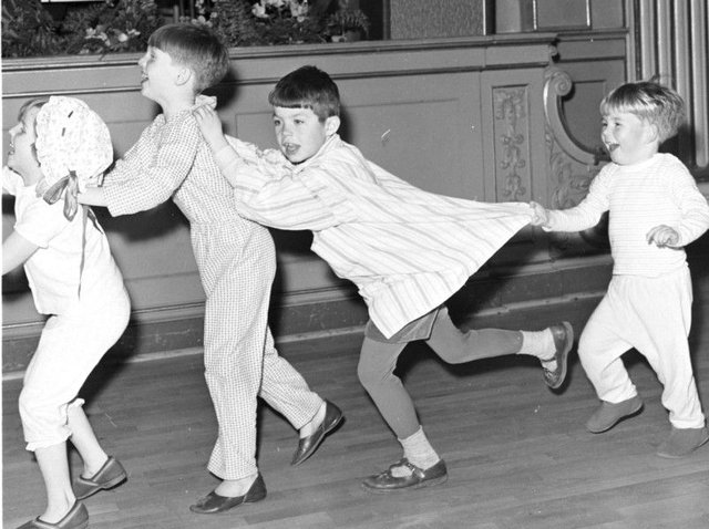 Miller's impact spanned time and place. Here, children in Edinburgh enjoy a Wee Willie Winkie party in their pyjamas in the early 1960s. PIC: TSPL.