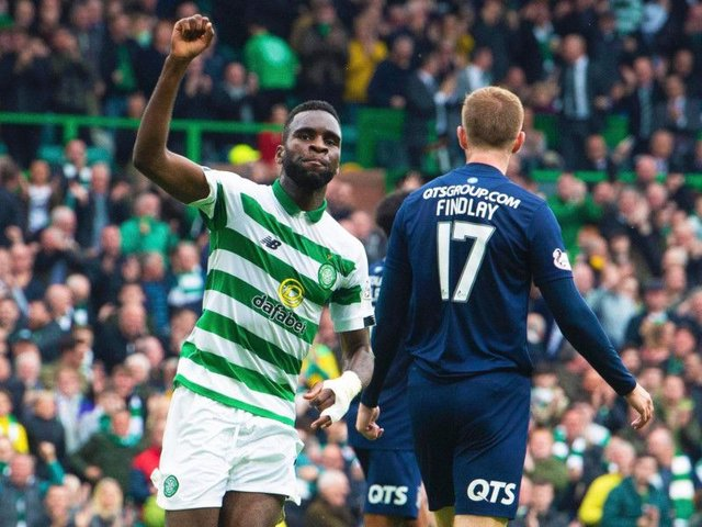 Odsonne Edouard celebrates after scoring against Kilmarnock at the weekend.