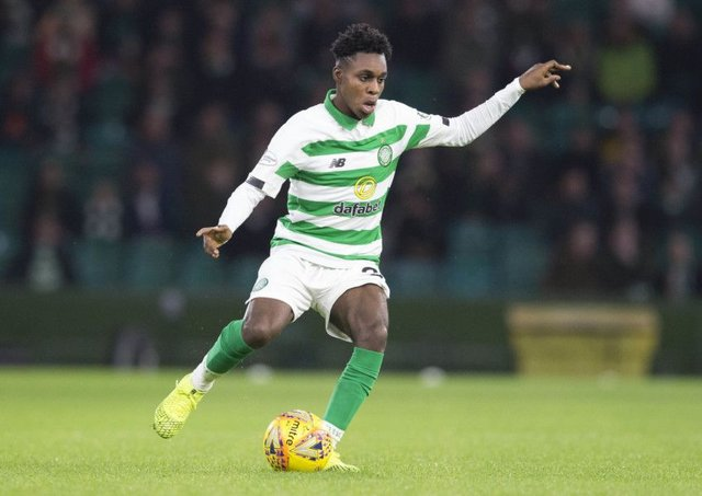 Jeremie Frimpong impressed on his Celtic debut. Picture: Jeff Holmes/PA