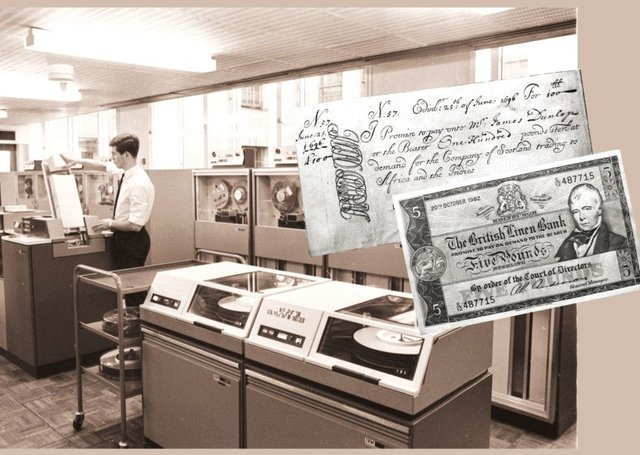 The computer room of the National Commercial Bank in Edinburgh in October, 1968: another chapter in Scotlands long history as a centre for technological developments. Picture: Ian Brand