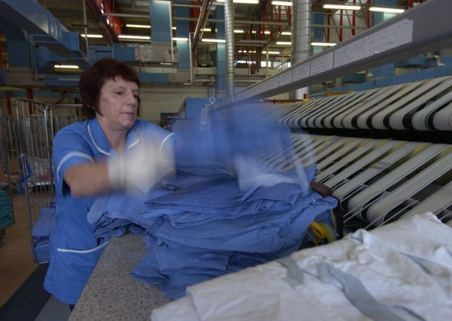 Hundreds of jobs at NHS laundries are under threat. Picture: JPIMedia
