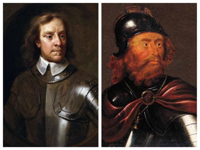 The papers were lost in a storm as they were being shipped back to Scotland from London, where they had been deposited by Oliver Cromwell (left). Documents linked to the reign of Robert the Bruce (right) were among those destroyed. PIC: Creative Commons.