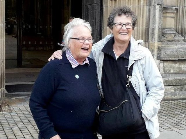 Rilba Jones, 79, and Mary Brand, 73, met up after they uploaded their DNA to a genealogy website and discovered each other - despite living 3,500 miles apart.