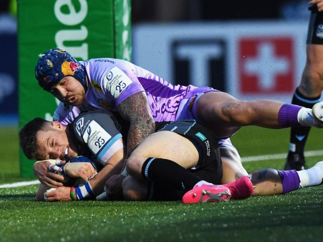 Glasgow Warriors' George Horne scored against Exeter.