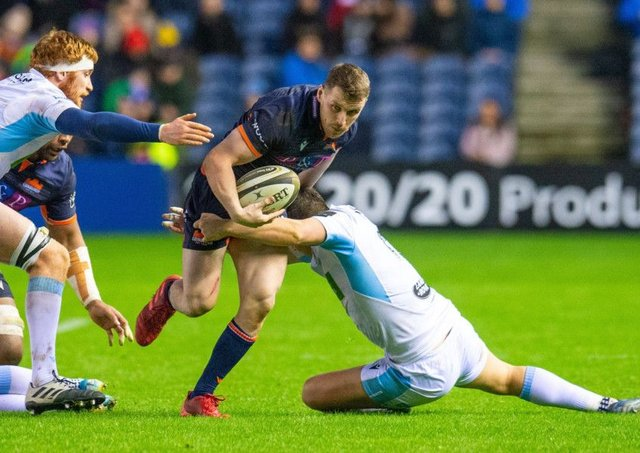 Mark Bennett acknowledges that Scotland now has a wealth of talent at centre which makes his bid for selection a tough one. Picture: Malcolm Mackenzie/ProSports/Shutterstock