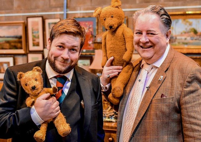 Angus Ashworth and Steven Moore will go head-to-head on Antiques Roadtrip on Monday.
