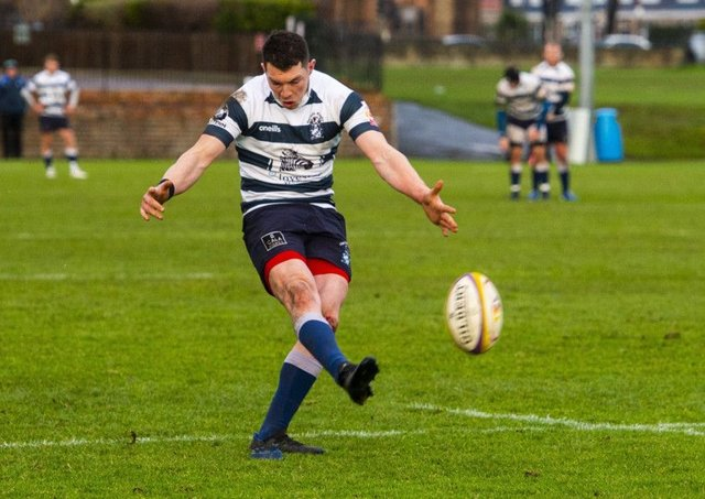 Ross Jones kicked three penatlies and a conversion for Heriot's. Picture: Bill Murray / SNS