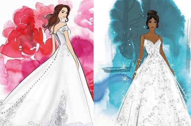If you've ever wished to be a real life Disney princess on your wedding day, then all your dreams could be about to come true (Photo: Allure Bridals/Disney)