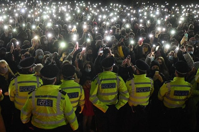 Labour has announced it will vote against the Government's key crime legislation, which includes plans to impose controls on protests (Photo: JUSTIN TALLIS/AFP via Getty Images)
