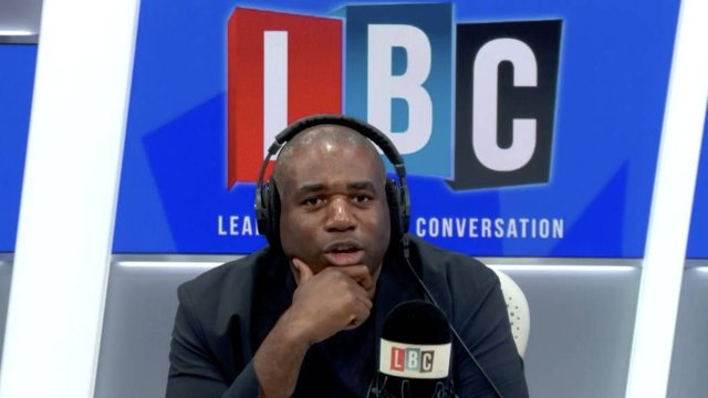 MP David Lammy was praised for how he dealt with a racist caller (LBC)