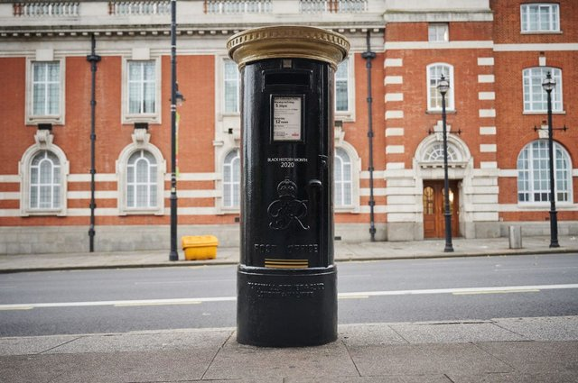 Four Royal Mail post boxes in different areas of the UK have been painted black as a way of celebrating Black History Month (Photo: Leon Neal/Getty Images)