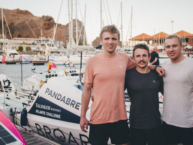 The three brothers set off from the Canary Islands on Thursday last week (Photo: Broar Media)