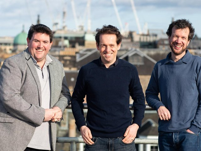 Mark McCafferty, Christian Arno, Douglas Cook - Edinburgh-based Pawprint has raised initial funding of 580k from a group of 50 angel investors. Picture: Contributed