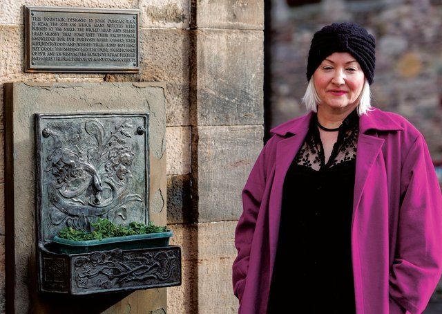 Claire Mitchell at the Witches' Well by Edinburgh Castle. Picture: Photographs: Ian Georgeson