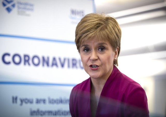 Nicola Sturgeon said Scotland was still in the containment phase of dealing with the coronavirus outbreak (Picture: Jane Barlow/pool/AFP via Getty Images)