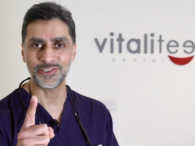Vitaliteeth Clinical Director Dr Atif Bashir