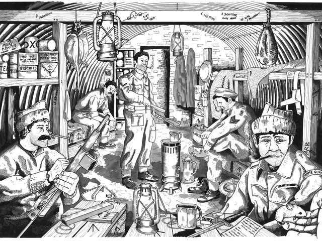A recreation of what life inside Craigielands AUOB may have looked like. PIC: Copyright FLS by Alan Braby 2020.