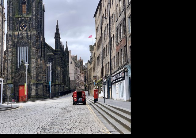 Deserted streets in central Edinburgh show just how much life has changed so quickly for us all (Picture: Lisa Ferguson)