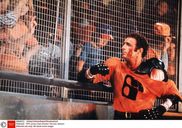 Could football take on a 'Rollerball' mindset and force players back on to the pitch before  empty stands? Picture: United Artists/Kobal/Shutterstock