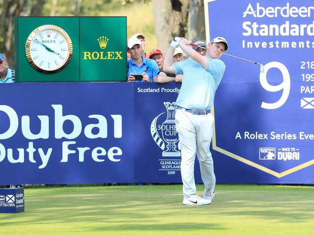 Bob MacIntyre, pictured during last year's Aberdeen Standard Investments Scottish Open at The Renaissance Club, lives close to the 12th tee at Glencruitten Golf Club in Oban. Picture: Aberdeen Standard Investments
