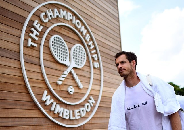 Andy Murray played doubles at Wimbledon last year and had hoped to played singles this year before the decision was taken to cancel the tournament. Picture: Victoria Jones/PA Wire
