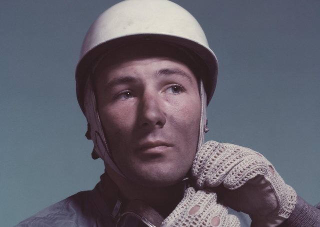 A portrait of Sir Stirling Moss taken around 1955 (Picture: John Piercy/Hulton Archive/Getty Images)