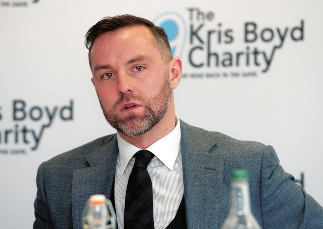 Kris Boyd has his own charity which focuses on mental health issues. Picture: Ross MacDonald/SNS
