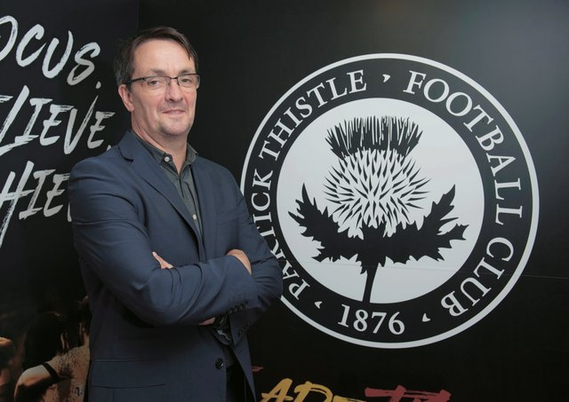 Speaking ahead of today's EGM, Partick Thistle chief executive Gerry Britton says the SPFL 'should be able to accept critical evaluation'. Picture: Craig Foy/SNS