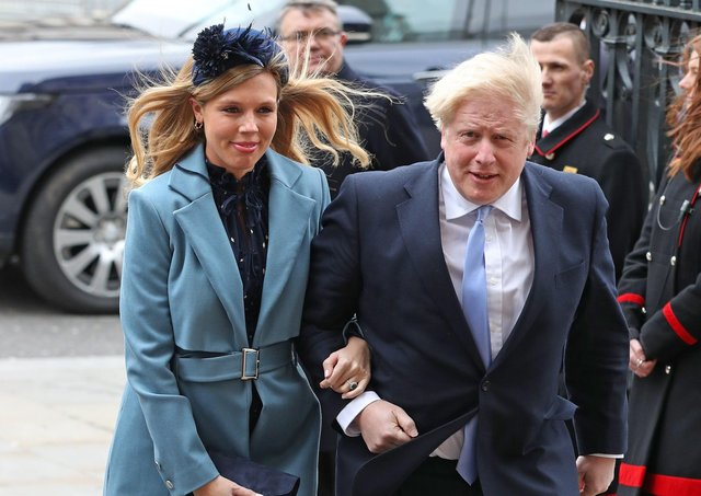 Prime Minister Boris Johnson and partner Carrie Symonds arriving at the Commonwealth Service at Westminster Abbey. Picture: Yui Mok/PA Wire