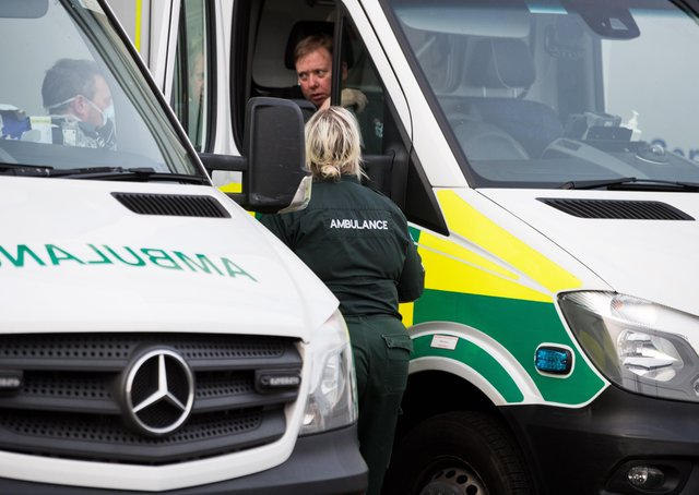 NHS staff wearing PPE (Picture, John Devlin)
